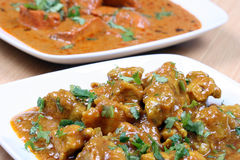 Chicken curry and butter chicken Royalty Free Stock Photography