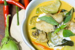 Chicken curry with eggplant Royalty Free Stock Photography