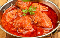 Chicken Curry. Indian Dish of Chicken curry in red curry Stock Images