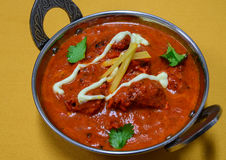 Chicken Curry. Indian Dish- Chicken curry in red tomato sauce Royalty Free Stock Photos