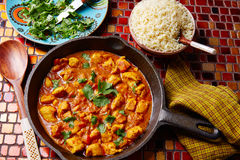 Chicken curry indian recipe basmati rice Stock Images