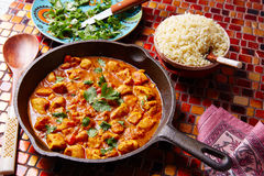 Chicken curry indian recipe basmati rice Stock Photography