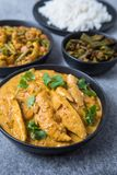 Chicken Curry Meal stock photos