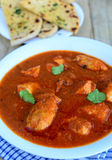Chicken Curry with naan Stock Photo