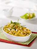 Chicken curry with pasta Stock Photos