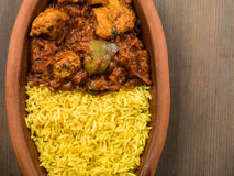 Chicken Curry With Pilau Rice Stock Photography