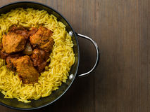 Chicken Curry With Pilau Rice Stock Images