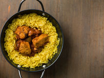 Chicken Curry With Pilau Rice Stock Image