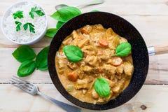 Chicken biryani and rice Stock Images