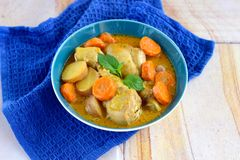 Chicken curry. With potato and carrot Stock Image