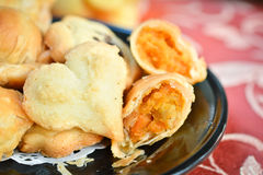 Chicken curry puff Royalty Free Stock Image