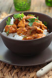 Chicken curry with rice Stock Photo