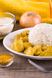 Chicken curry with rice Caribbean. Royalty Free Stock Photo