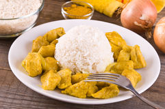 Chicken curry with rice Caribbean. Stock Photography