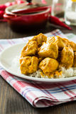 Chicken curry with rice Stock Photos