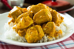 Chicken curry with rice Royalty Free Stock Photo
