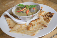 Chicken Curry with Roti Royalty Free Stock Photos