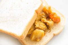 Chicken curry sandwich Royalty Free Stock Photo