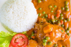 Chicken Curry served Stock Image