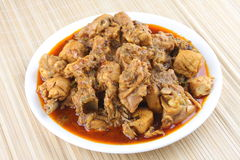 Chicken  curry. Spicy Indian chicken roast,curry Stock Images