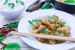 Chicken curry on bowl Stock Photography
