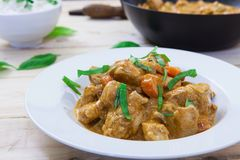 Chicken curry on bowl Royalty Free Stock Photos