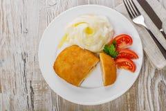 Chicken cutlet cordon bleu  Royalty Free Stock Photography