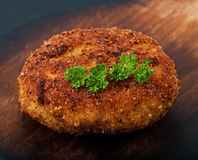 Chicken cutlet, food. Royalty Free Stock Images