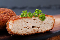 Chicken cutlet, food. Royalty Free Stock Image