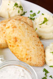 Chicken cutlet with potatoes Royalty Free Stock Image