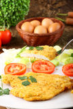Chicken cutlet with salad Royalty Free Stock Photo