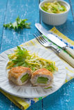 Chicken cutlet stuffed with avocado (Zrazy) Royalty Free Stock Images