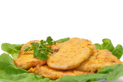 Chicken cutlets Stock Images