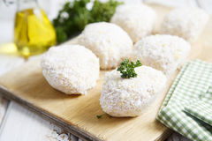 Chicken cutlets in bread crumbs Royalty Free Stock Image