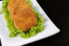 Chicken cutlets in breadcrumbs Stock Images