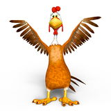 Chicken. 3D CG rendering of a chicken Royalty Free Stock Photo