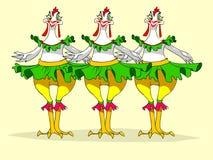 Chicken dancing. Stock Photos