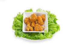 Chicken deep fries Royalty Free Stock Photos