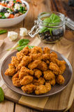 Chicken delicious homemade popcorn royalty free stock photography