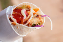 Chicken doner kebab, turkish street food. Stock Image