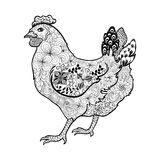 Chicken doodle Stock Images