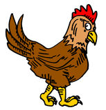 Chicken draw Royalty Free Stock Image