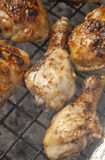 Chicken drumstick on the grill Stock Photography