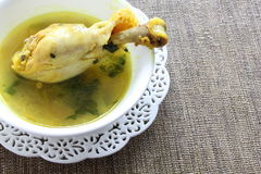 Chicken drumstick in Indian chicken curry. Delicious chicken drumstick in flavorful Indian chicken curry Royalty Free Stock Photography
