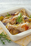 Chicken drumsticks cooked in the oven Royalty Free Stock Photos