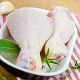 Chicken drumsticks Stock Images