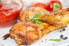 Chicken drumsticks Stock Photography