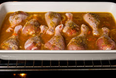Chicken drumsticks in vegetables with rice Royalty Free Stock Photo