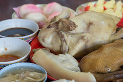 Chicken and duck for chinese new year food Stock Photography