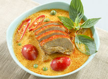 Duck green curry isolated  Royalty Free Stock Images